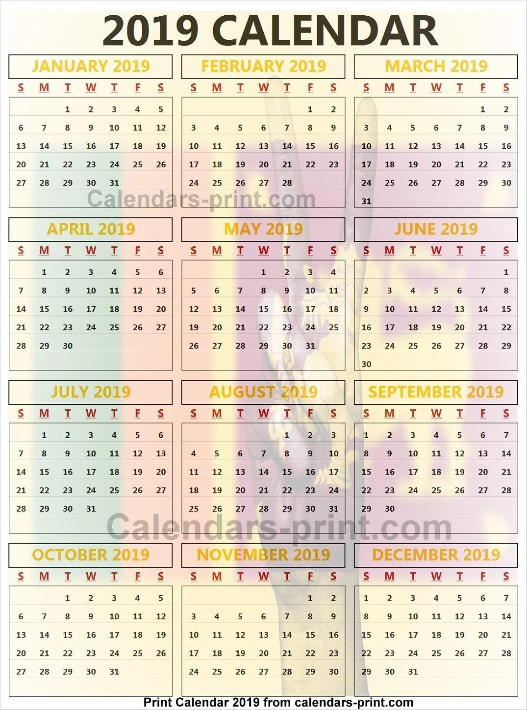 2019-2019 Calendar Printable Sri Lanka Calendar 2019 2019 Yearly Calendar