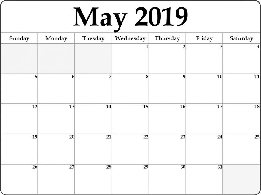2019 and 2019 Printable Calendars May 2019 Calendar Printable Cute Template – Free Printable