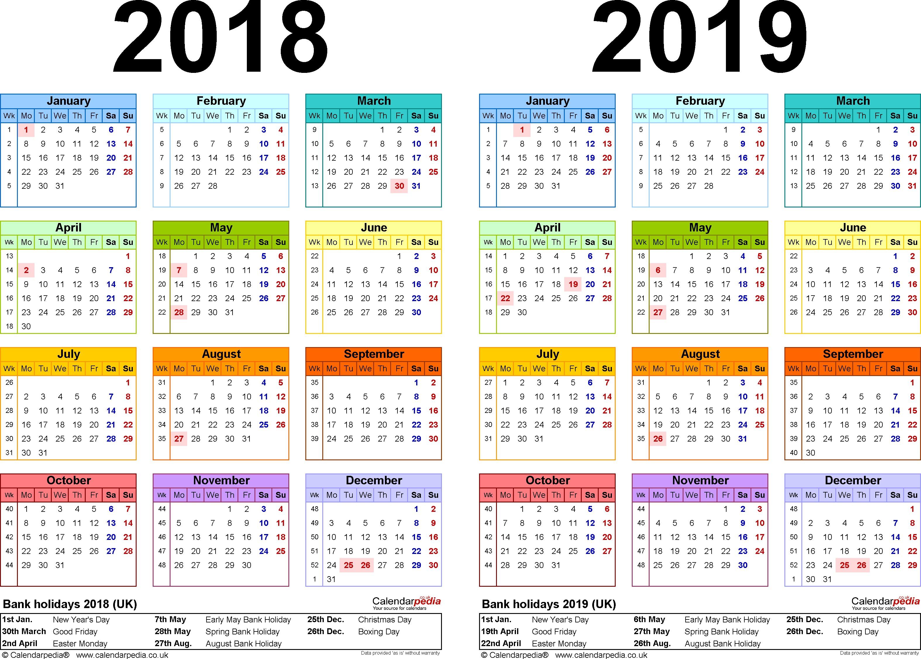 2019 Calendar Canada
