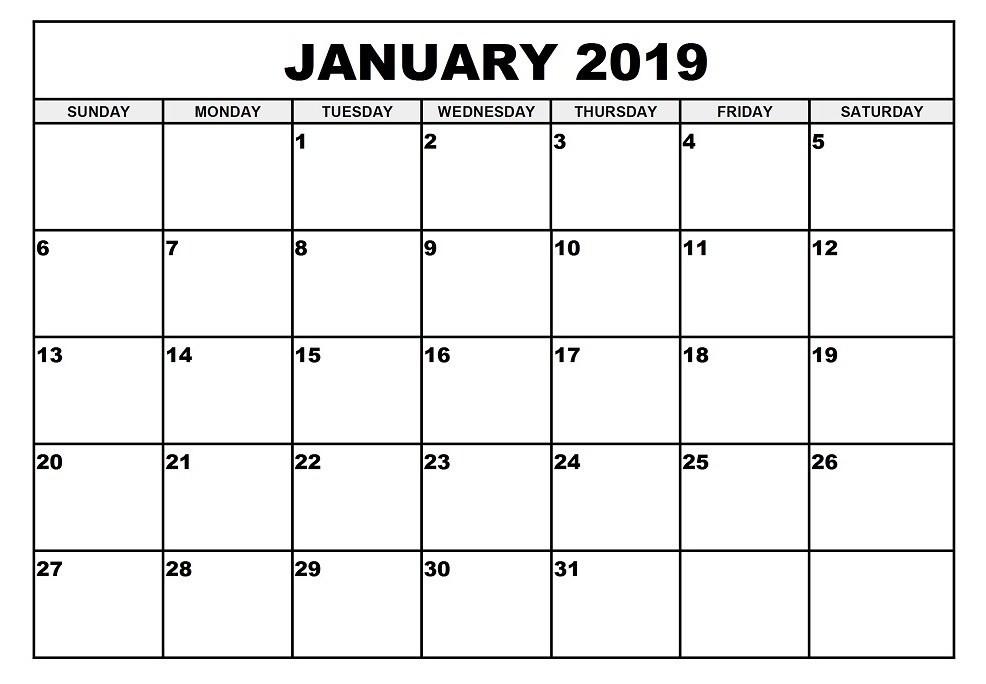 Microsoft fice Calendar Templates 2019