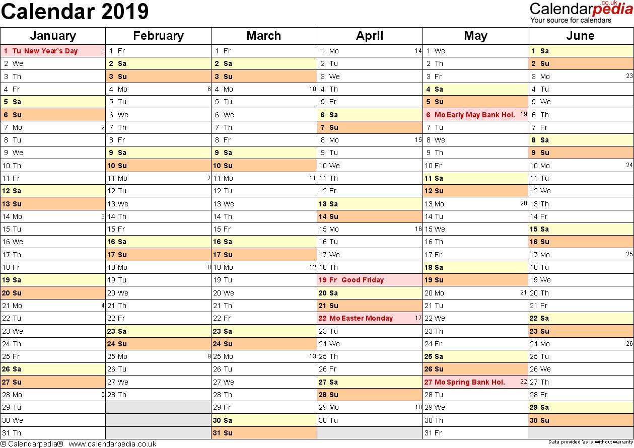 2019 Calendar Printable Uk Calendar 2019 Uk 16 Free Printable Pdf Templates
