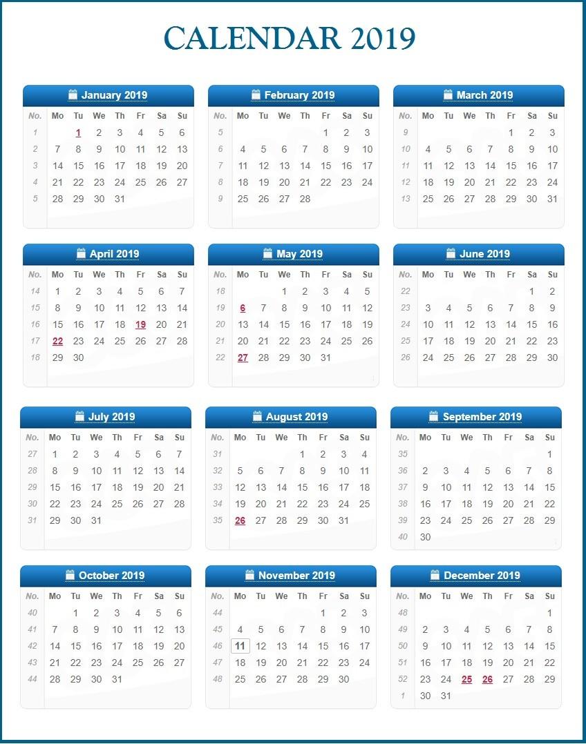 10 Best 2019 Calendar Designs Ideas
