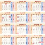 2020 Calendar Uk Printable Calendar 2020 Uk with Bank Holidays & Excel Pdf Word Templates