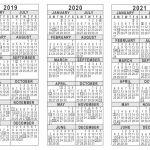 5 Year Calendar Printable 2019 2020 2021 3 Year Calendar