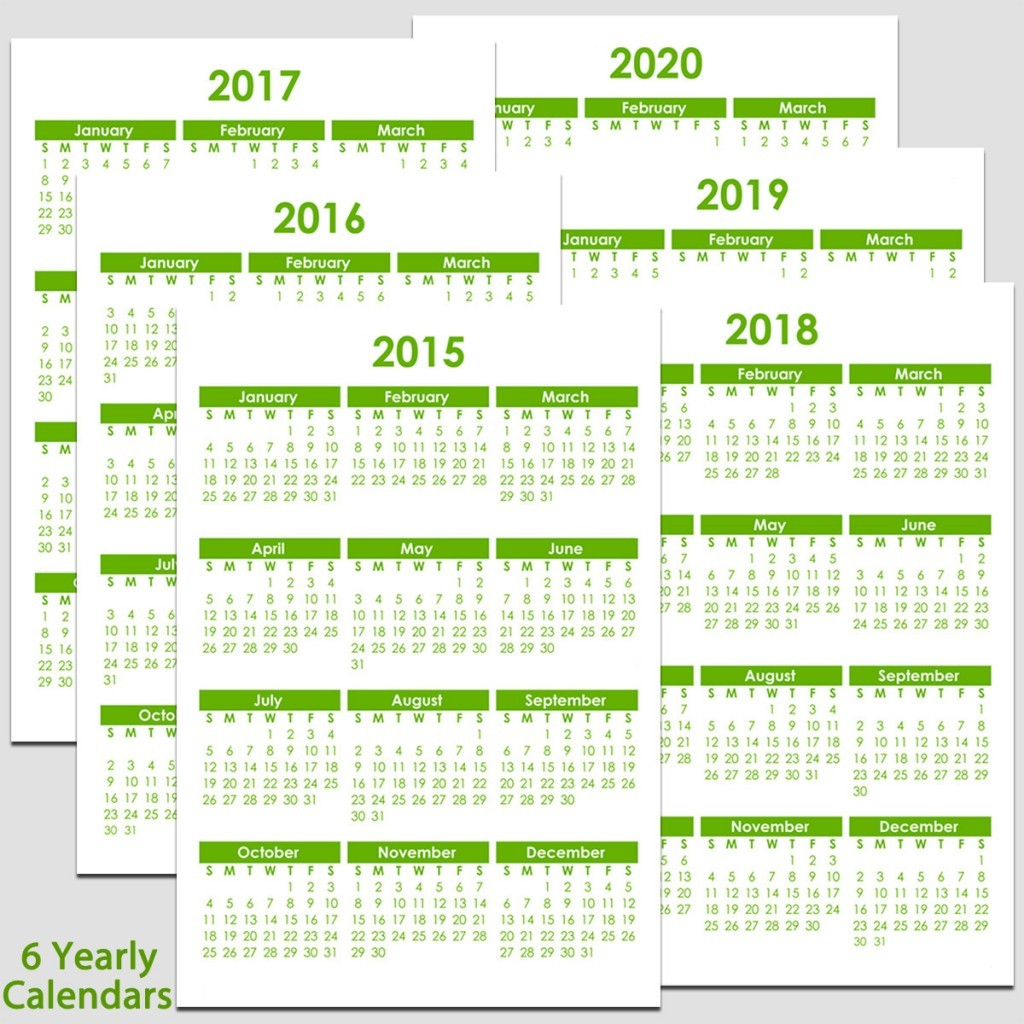 5 Best of Year 2020 Calendar Printable 2020