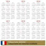 5 Year Calendar Printable Five Year Calendar Excel Free Calendar Template