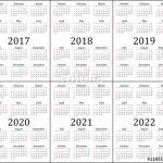 "5 Year Calendar Printable ""six Year Calendar 2017 2018 2019 2020 2021 and 2022"