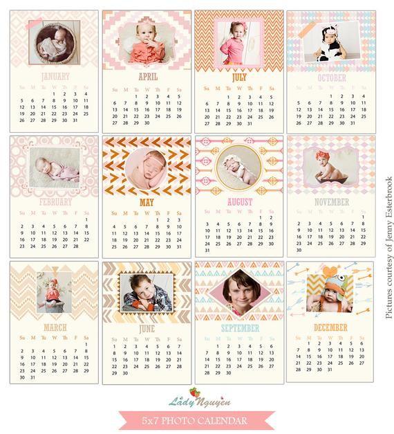 5×7 Printable Calendar
