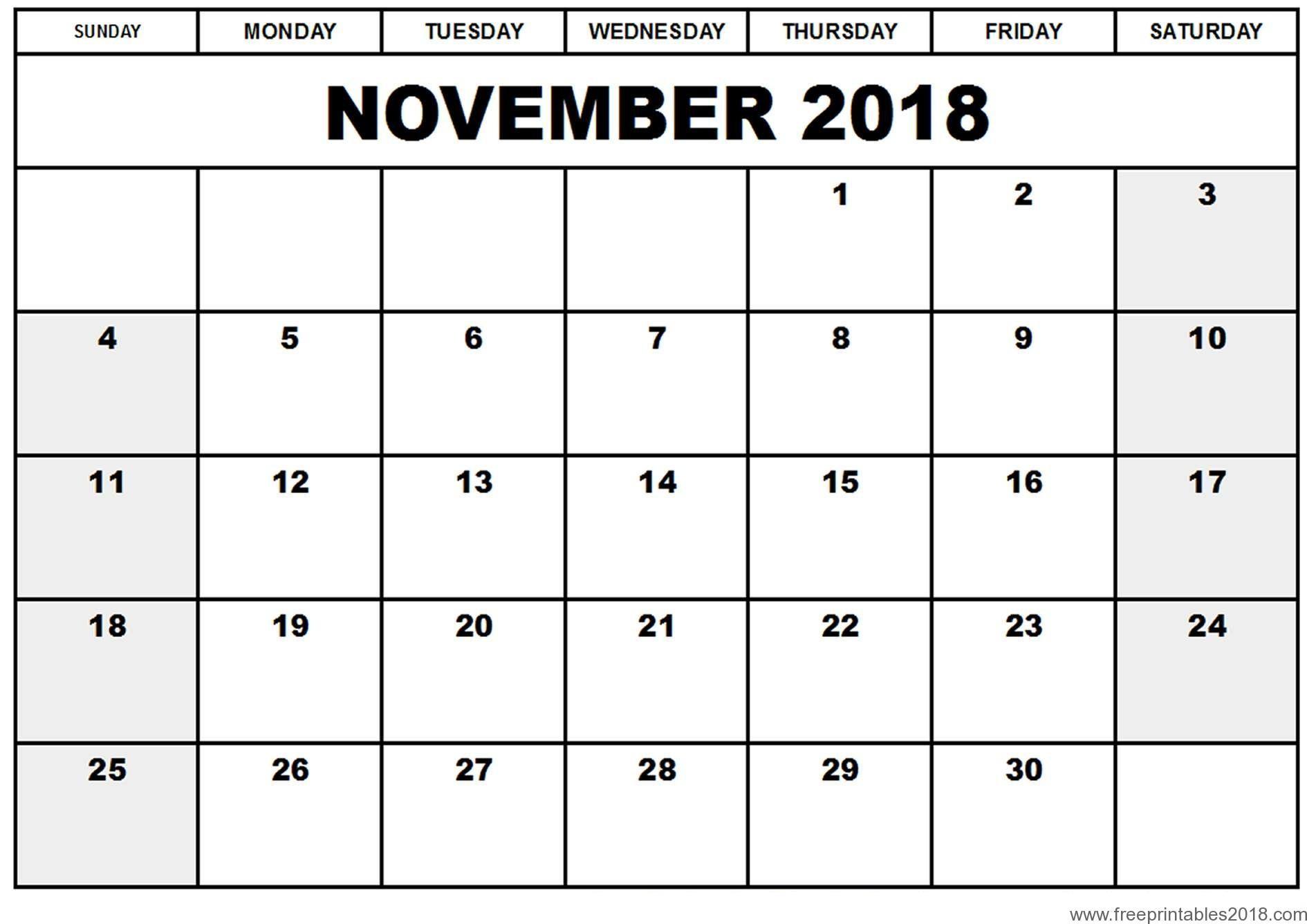 Blank Calendar Printable Free Printable Calendar December 2018