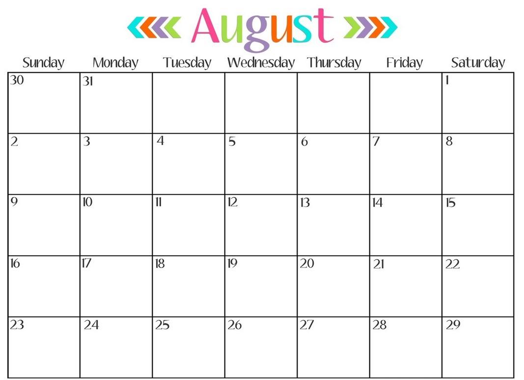 Print Monthly Calendar 2017 Free