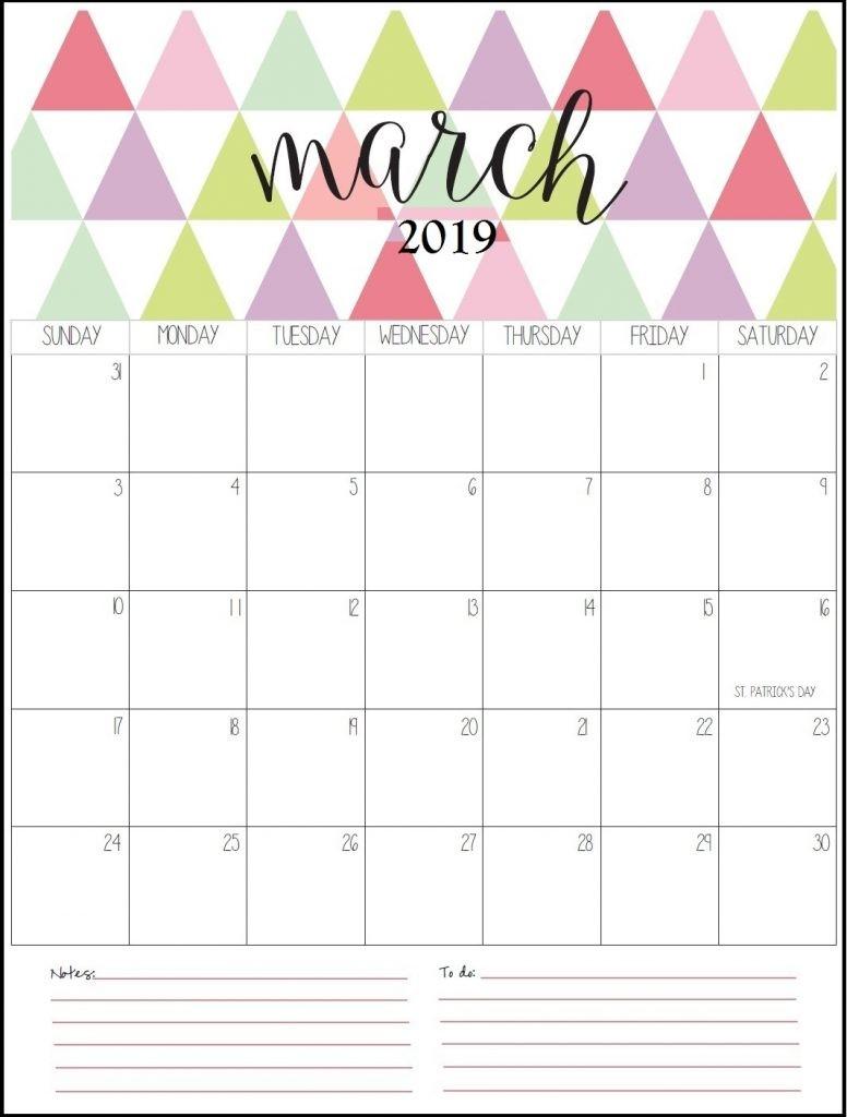 Get March 2019 Calendar Template