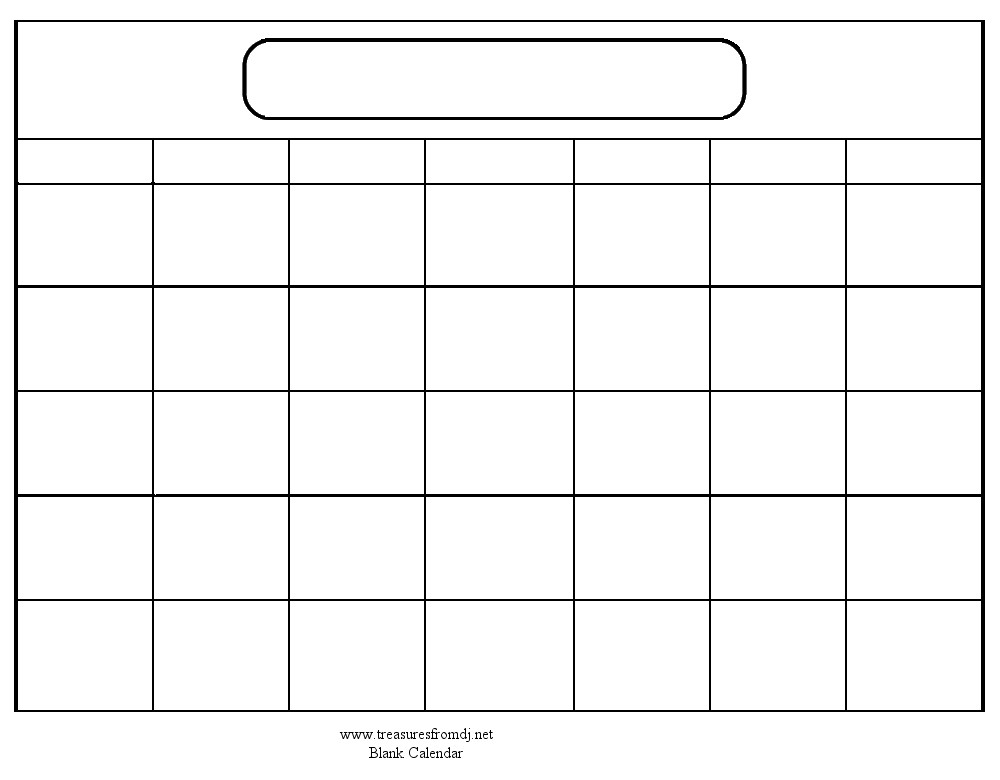 Calendar Templates Free Printable Print Blank Calendar Template