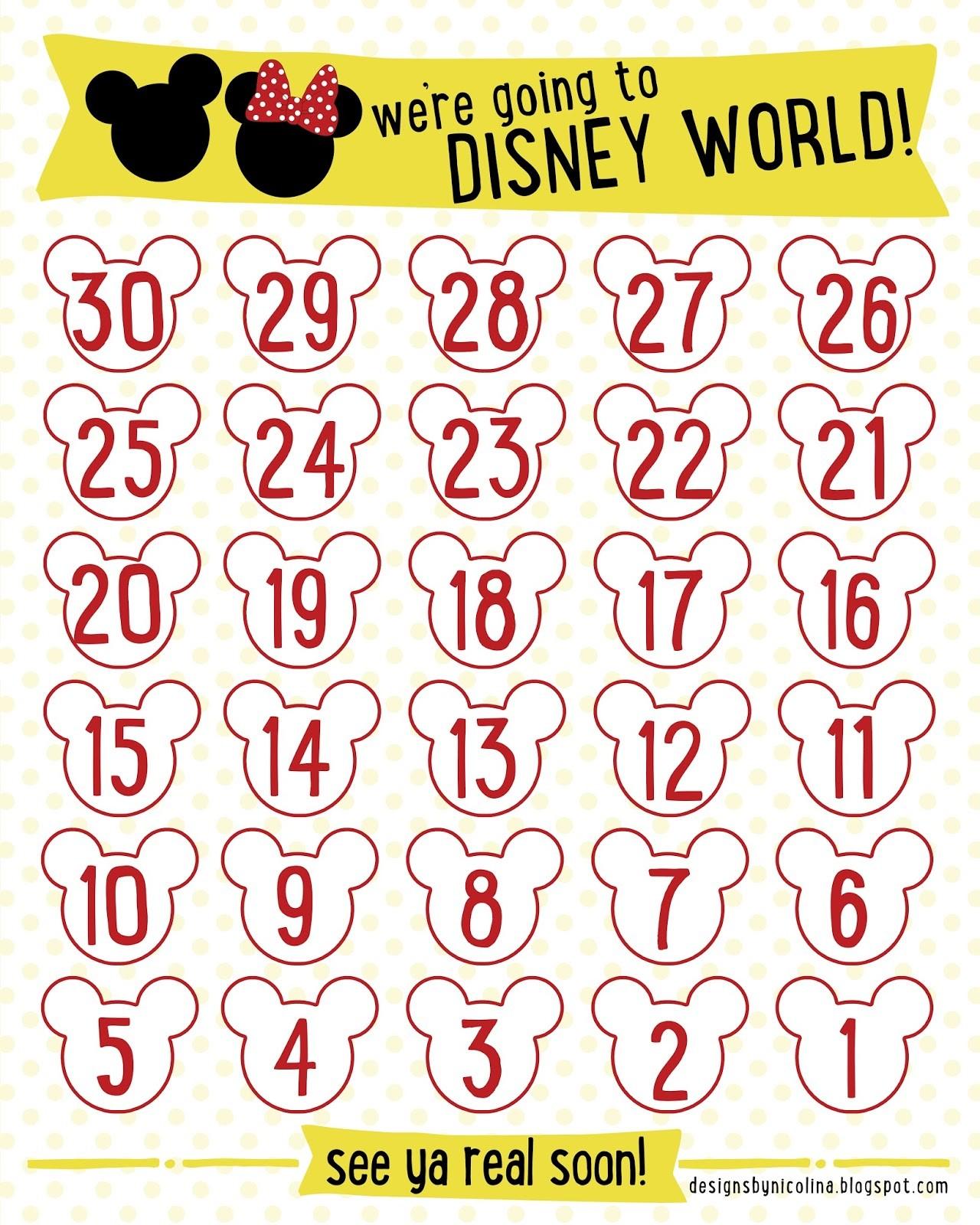 Countdown Calendar Printable 7 Best Of Disneyland Countdown Calendar Printable