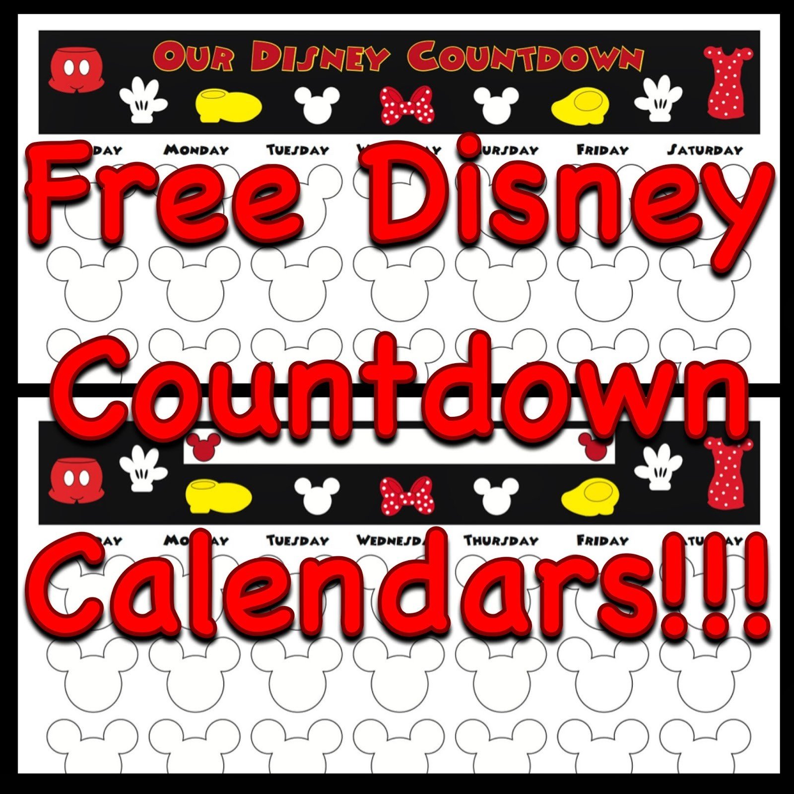 Countdown Calendar Printable My Disney Life Countdown Calendars