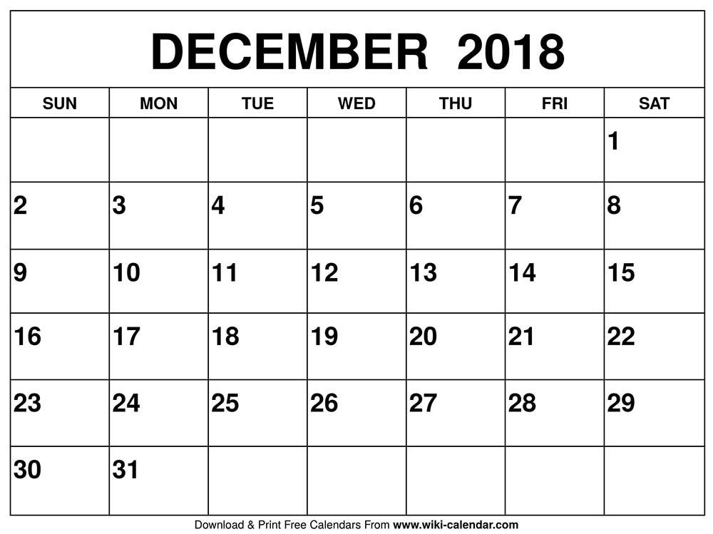 December January Calendar Printable Blank December 2019 Calendar Printable