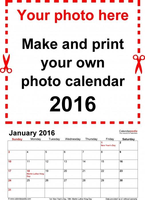 Design Your Own Printable Calendar