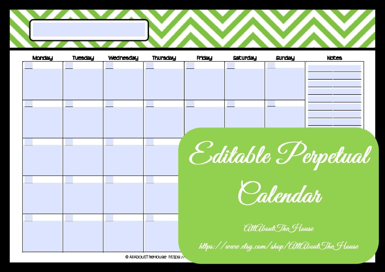 Editable and Printable Calendar