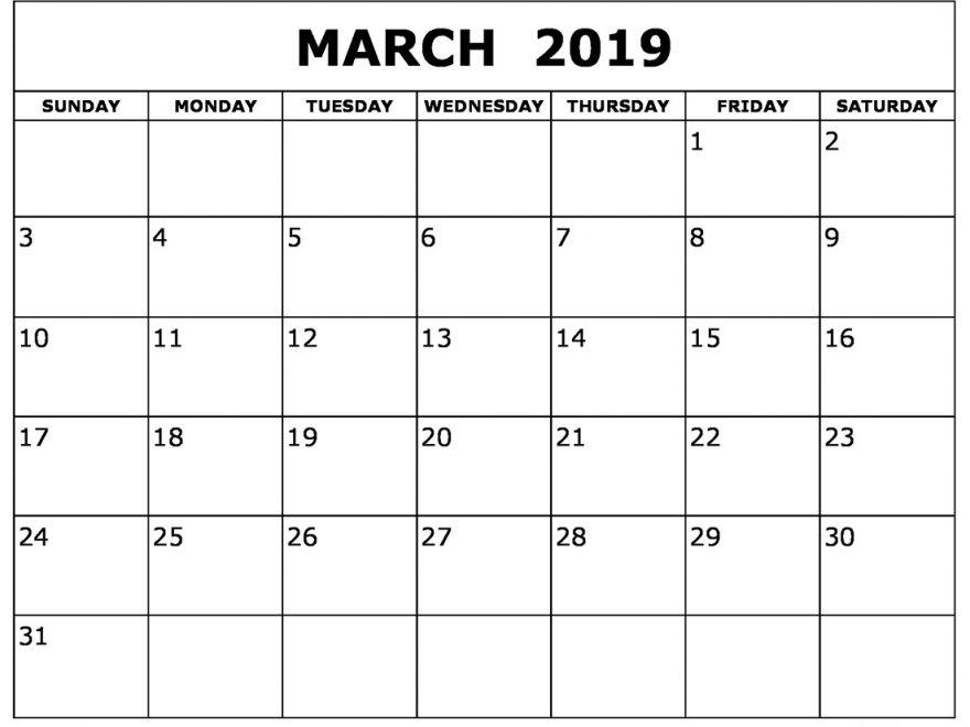 Free 2019 and 2019 Calendar Printable