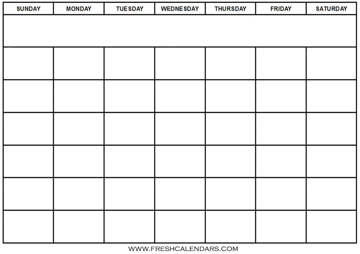 Free Blank Printable Calendar