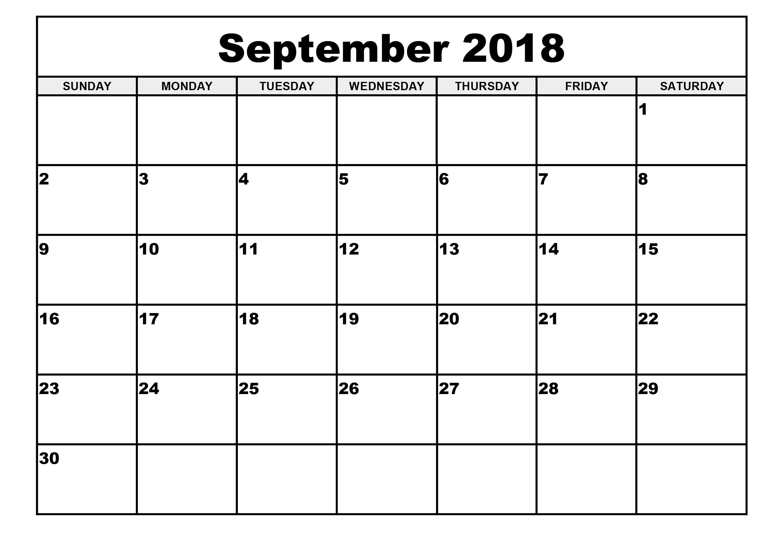 Free Blank Printable Calendar Free Printable Calendar 2018 Template