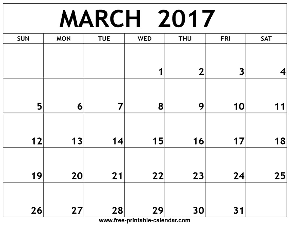 Print Blank Calendars