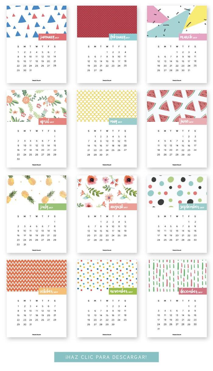 20 Free Printable Calendars for 2017 Hongkiat