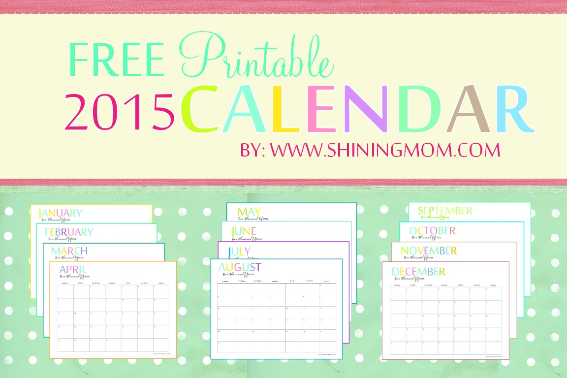 Free Online Printable Calendars 2015 Free Printable Calendars