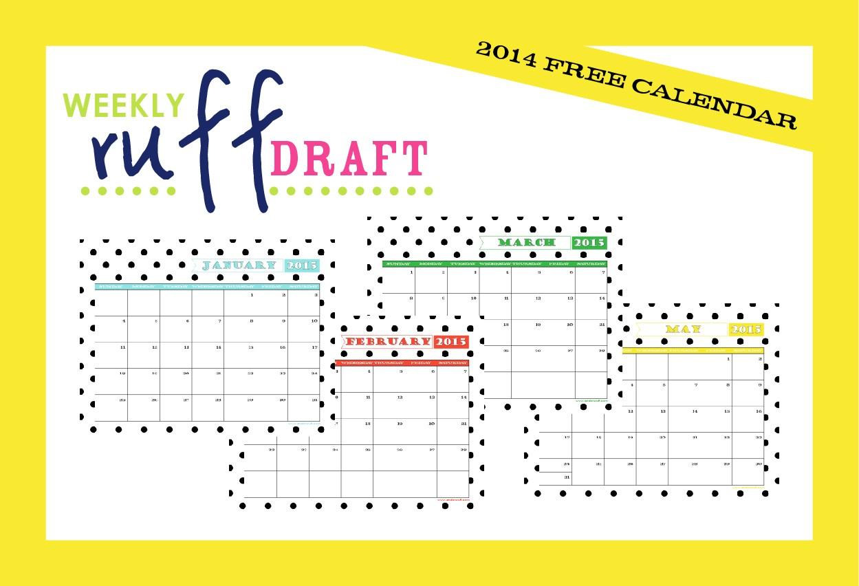 Free Online Printable Calendars Ruff Draft 2015 Free Printable Calendar anders Ruff
