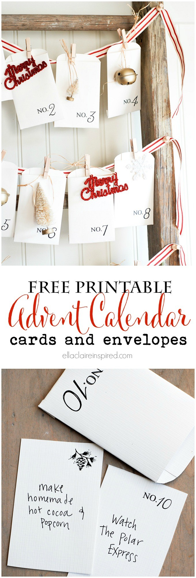 Free Printable Advent Calendar 25 Christmas Advent Calendars