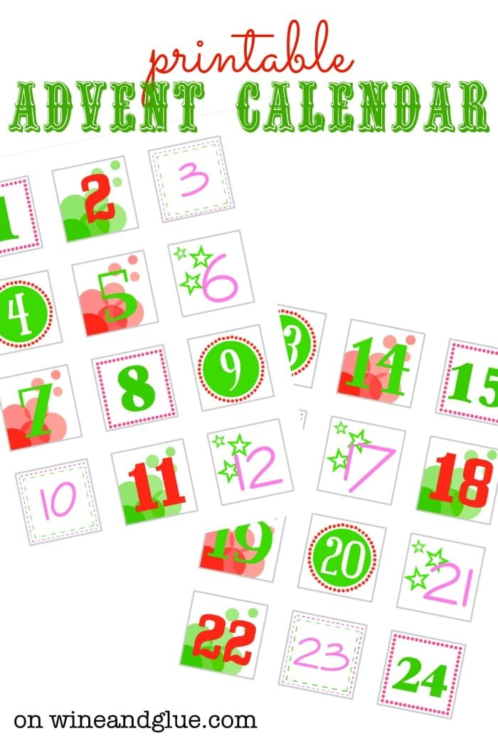 DIY Advent Calendar Wine & Glue