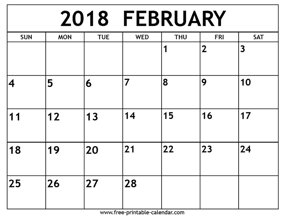 Free Printable Blank Calendar Free Printable Calendar
