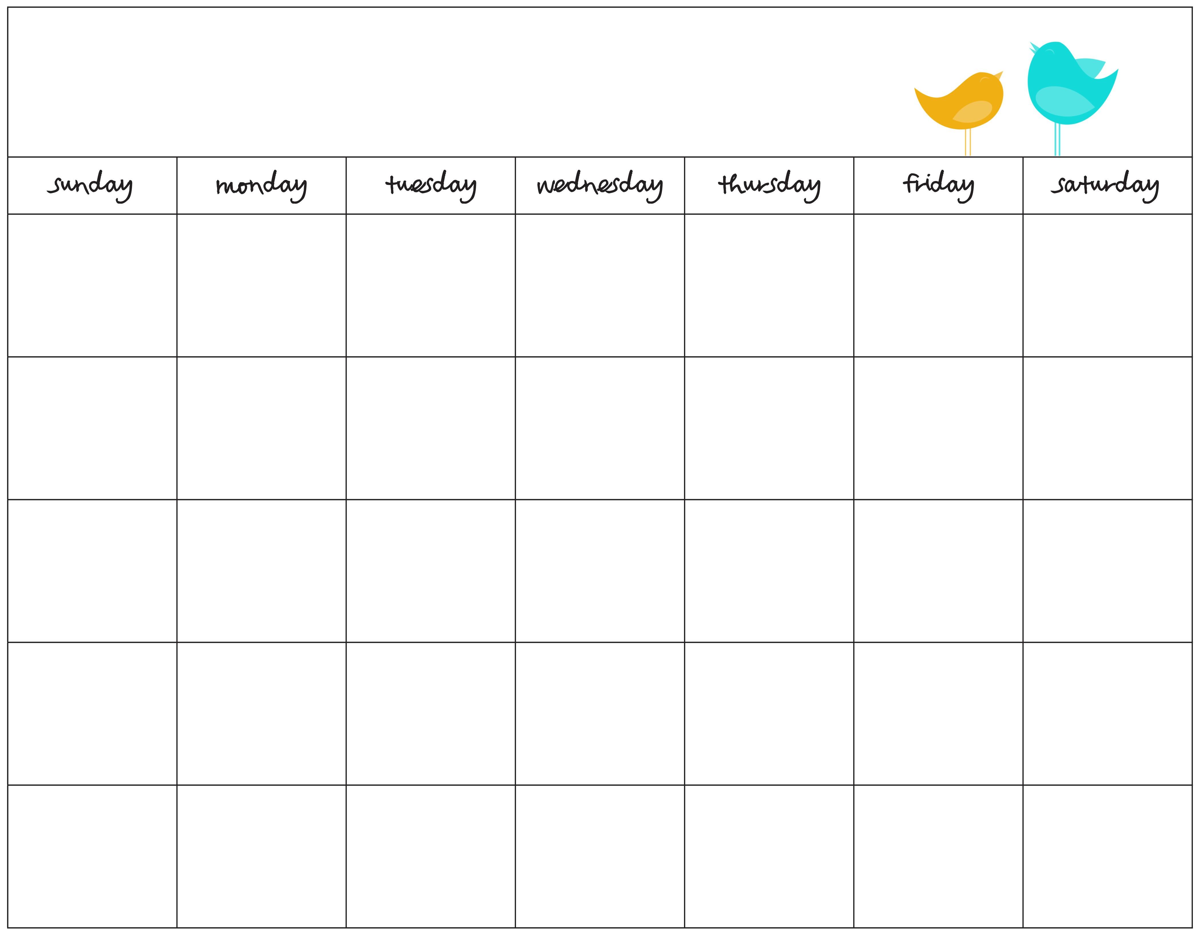 Free Printable Blank Calendar Printable Calendar Dr Odd