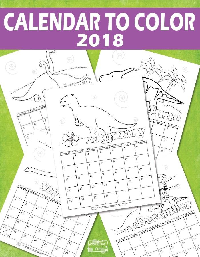 Free Printable Calendars for Kids Printable Calendar for Kids 2018 Itsy Bitsy Fun
