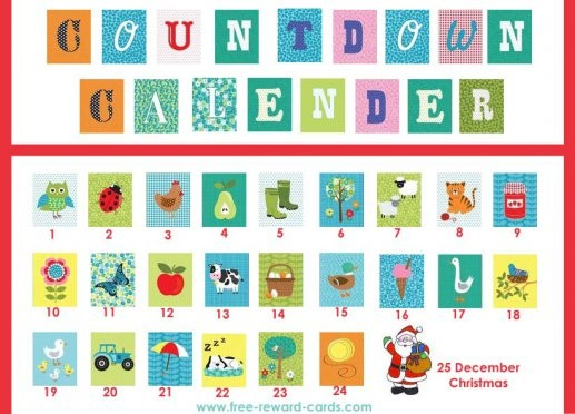 Printable Countdown To Christmas Calendar For Kids