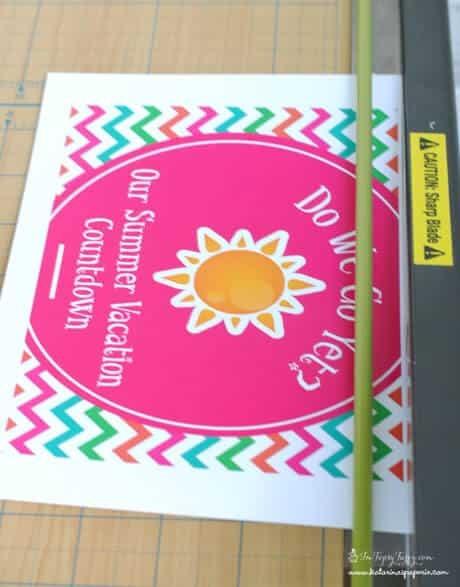 Free Printable Summer Vacation Countdown Calendar