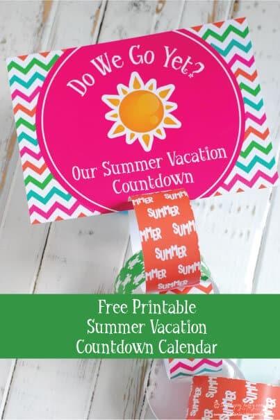 Free Printable Countdown Calendar Vacation