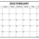 Free Printable February Calendars 2019 February 2019 Calendar February 2019 Calendar Printable