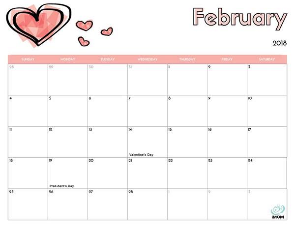 Free Printable Kids Calendar 2018 Free Printable Calendar for Kids Imom