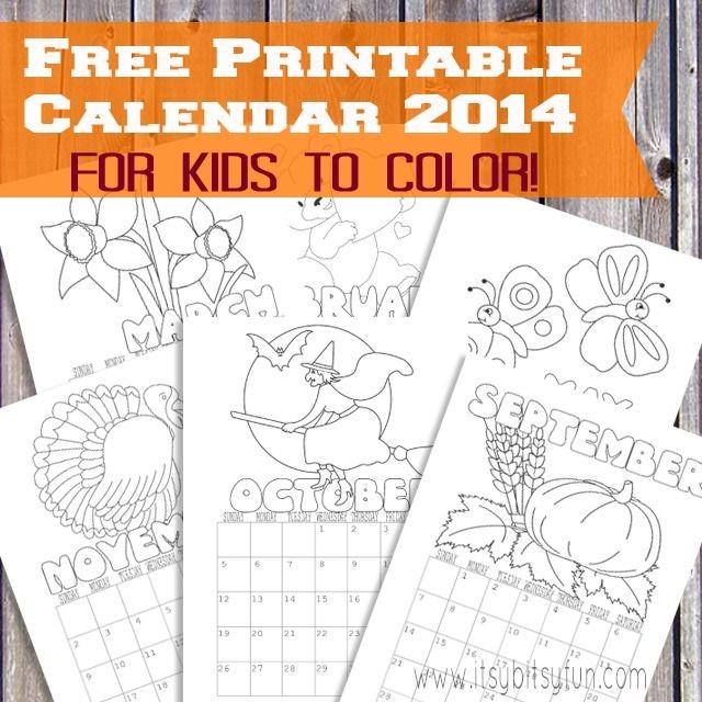 Printable Calendar for Kids 2017