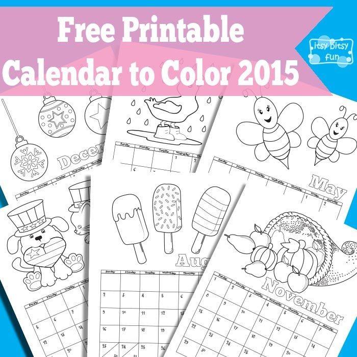 Printable Calendar for Kids 2018