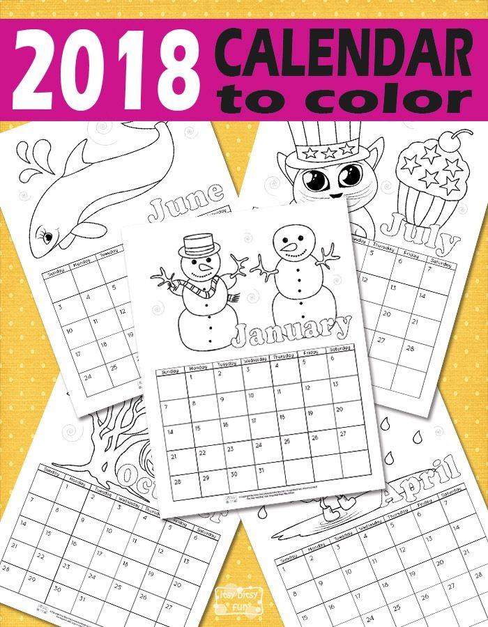 Printable Calendar for Kids 2019