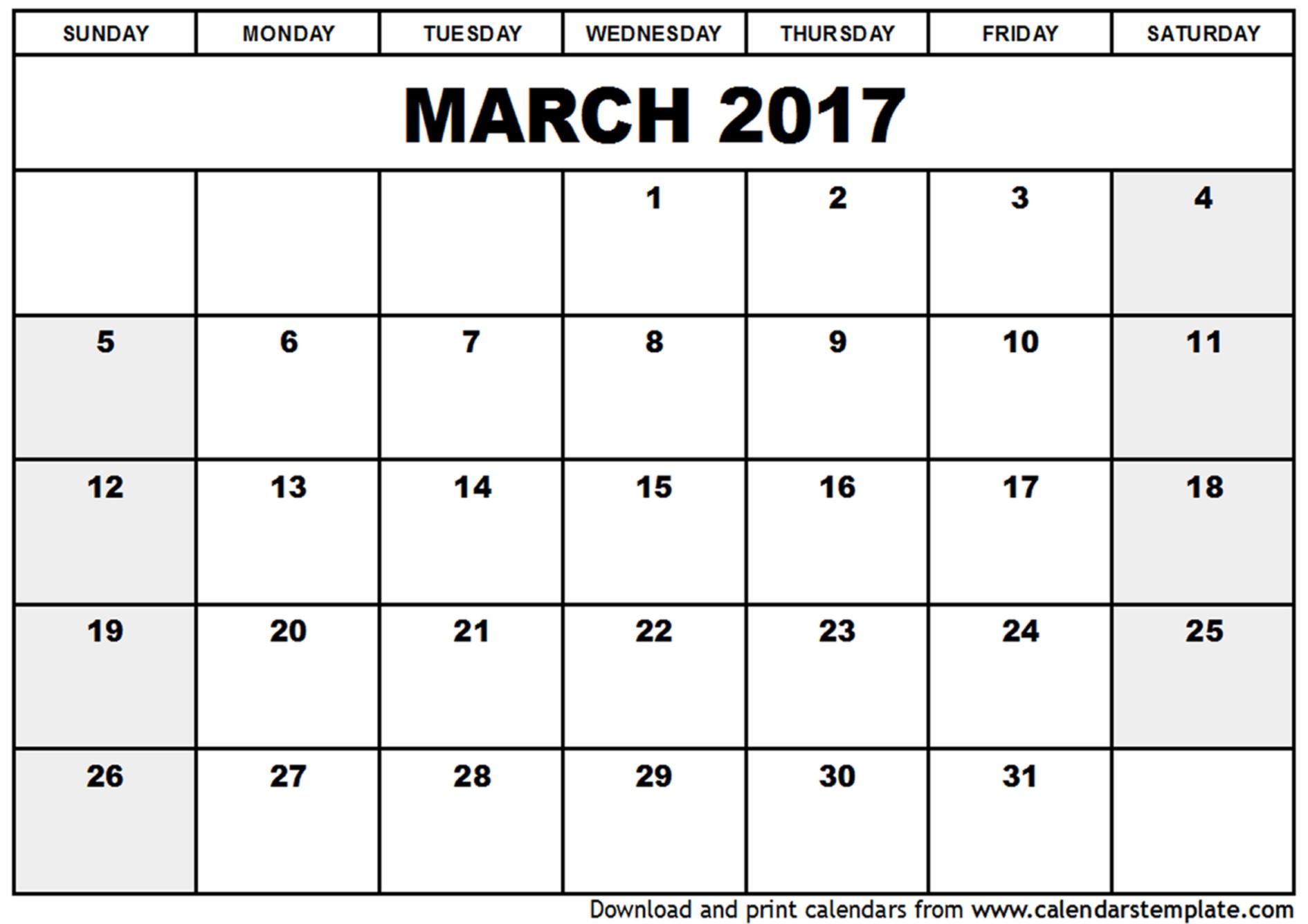 Free Printable Word Calendar March 2018 Calendar Word