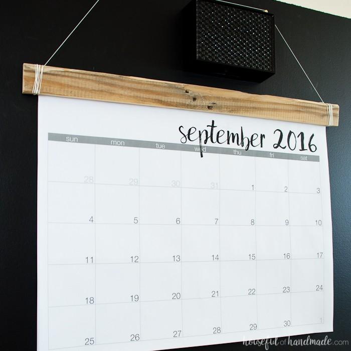 How to Make A Printable Calendar Diy Giant Rustic Wall Calendar with Printable Houseful