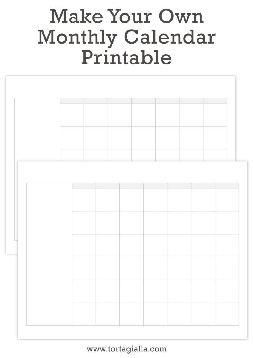 How to Make A Printable Calendar