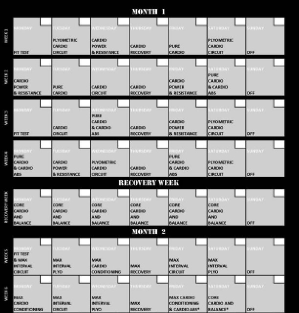 Insanity Printable Calendar