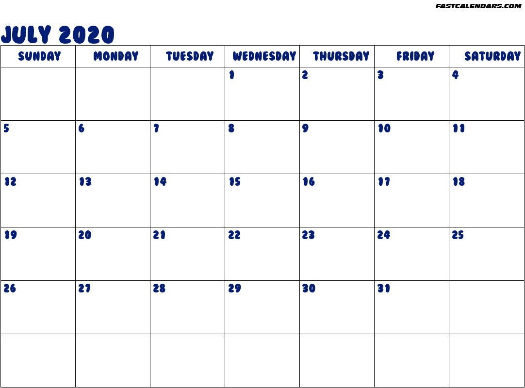 July 2020 Calendar Printable Clipart for February Februari Plaatjes 2 Van