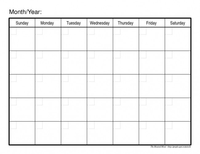 Make Your Own Free Printable Calendar