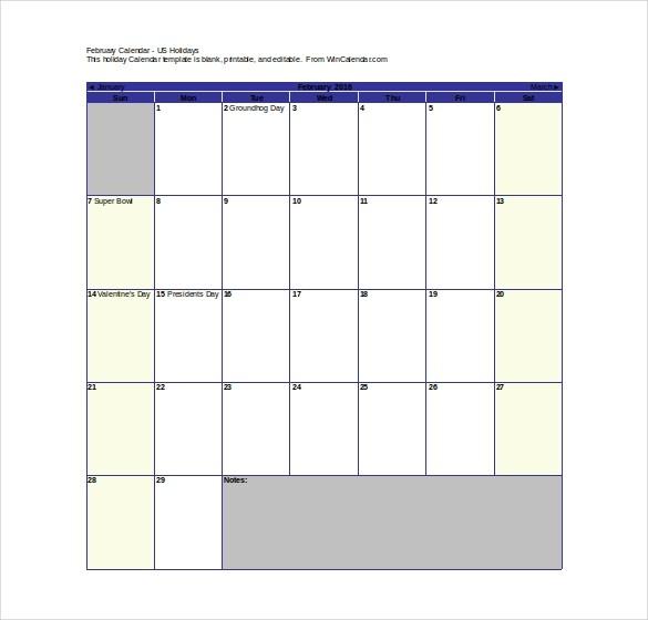 16 Printable Microsoft Word Calendar Templates
