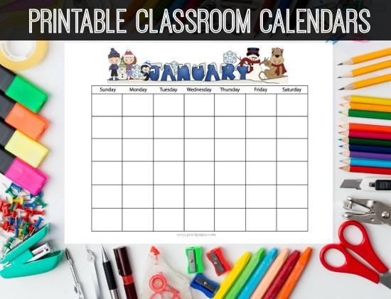 Pre K Calendar Printables