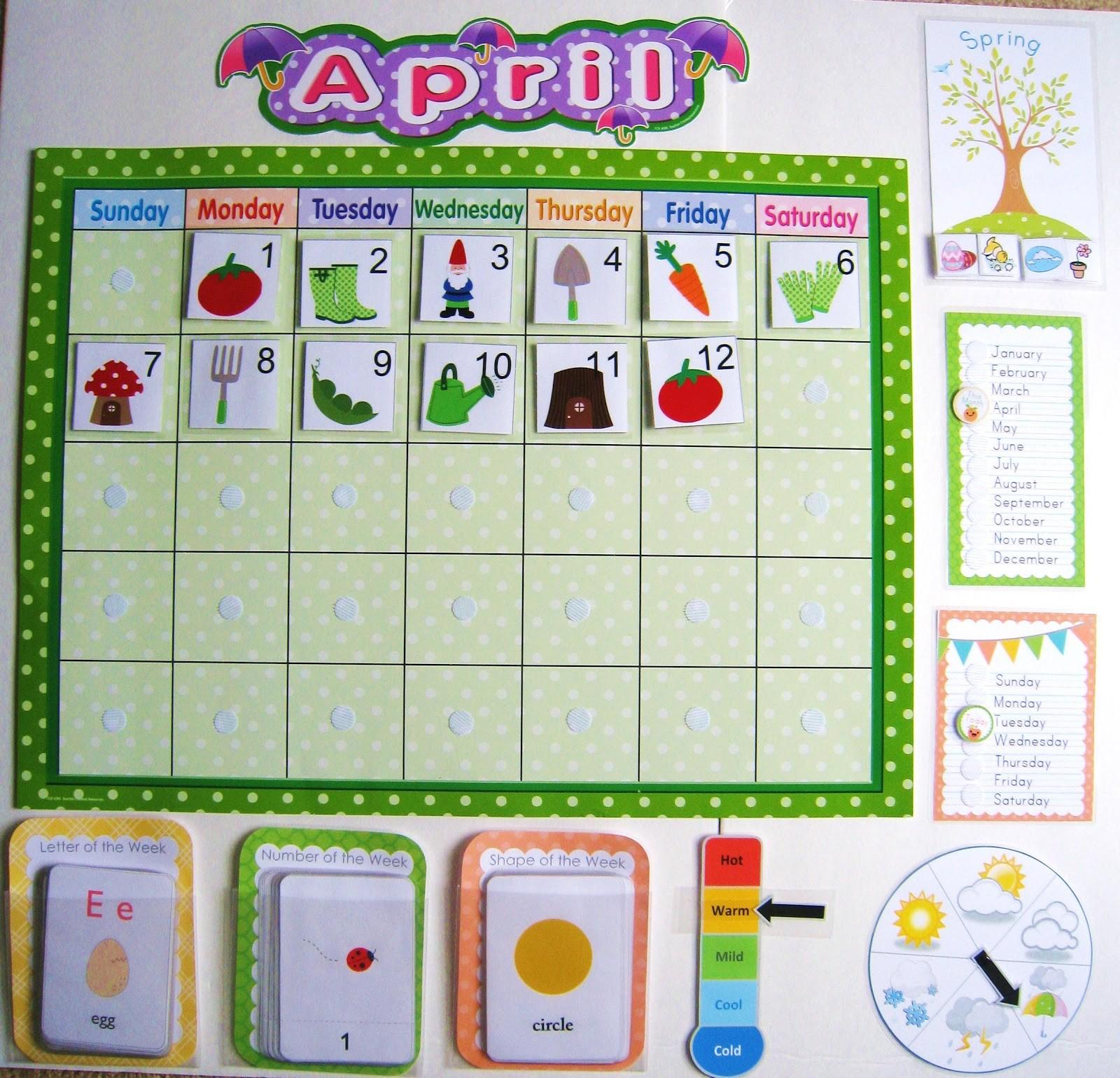 Preschool Calendar Printables Calendar Board 1 600×1 539 Pxeles
